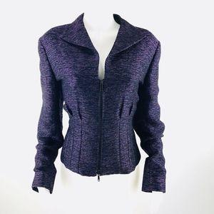 Lafayette 148 New York  LS Zip Blazer Jacket 16